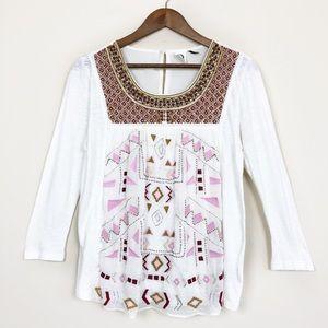 3/$30 Anthro Akemi + Kin Embroidered Blouse 132